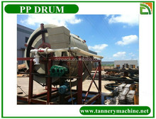 Scrap plastic drums of leather dyeing in china