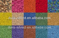 Colored Rubber Mulch For Playground