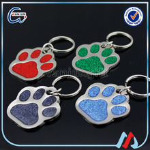 sedex 4p colorful paw print keychain