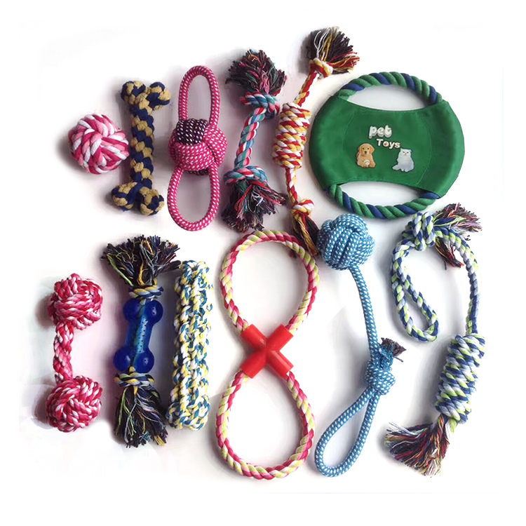 New arrival small doggie accessories interactive eco-friendly <strong>pet</strong> sets rope chew dog rope toy