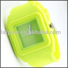 black square jelly silicon watch brand luxury sport fitness odm silicon watch