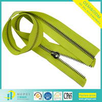 Wholesale Polished 5# 8# 10# Decorative Long Chain Metal/Brass/Aluminum Zipper for Garment/Bag/Shoes