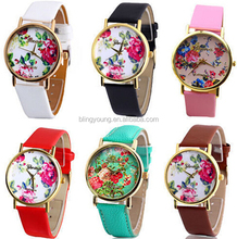 Custom lady leather watch promotional