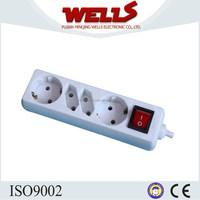 4 Way Euro 2 Pin Plug Sockets 1.5m Extension Lead