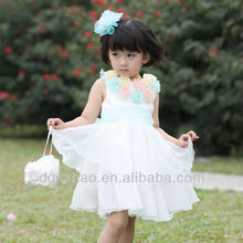 rainbow l flower cinderella dresses for girls