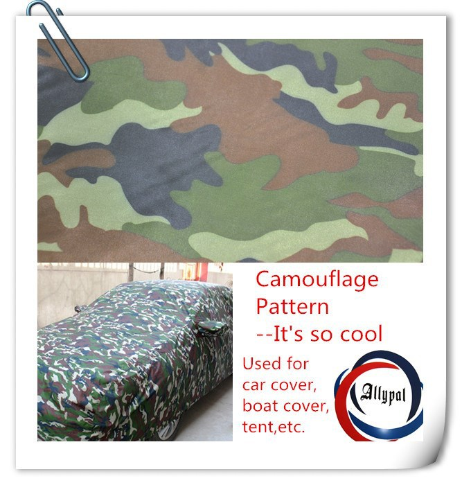 Hi international floral camouflage Oxford printed fabric for car cover