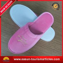 Low price terry cloth slippers soft fleece lined slippers for hotel new towel slippers