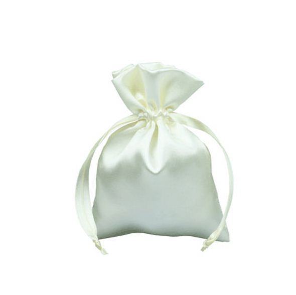 Elegant excellent loyal satin jewelry bag peach