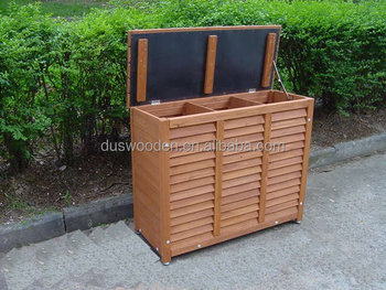 Wooden outdoor Dustbin