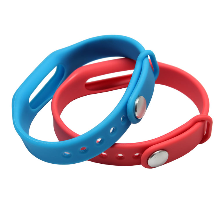 Metal Button Adjustable Best Silicone Wristbands