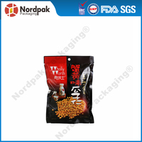 Custom aluminium foil bag for snack,flat packaging pouch for food,plastic food pouch