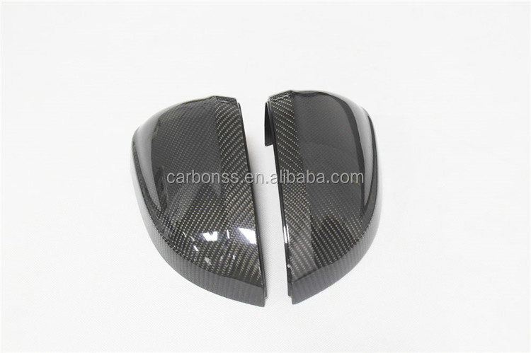 Replacement Carbon Fiber Car Side Mirror Housings Cover Without Side Assit Light For Audi A4 B9 2017+