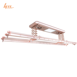 Balcony Furniture Aluminium Wall Hanging Baby Electric Clothes Drying Rack with Fan Heater