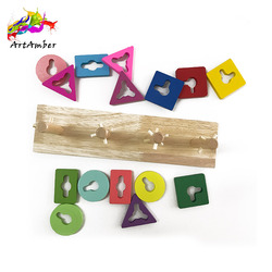 Educational diy shape sorting wooden color recognize products
