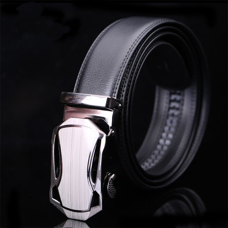 Simple Design Italian Brands Men Automatic Genuine Real Leather Belt Buckle