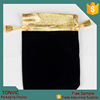 2015 Fashion Velvet Gold Color Top Gift Bag Jewelry Pouch
