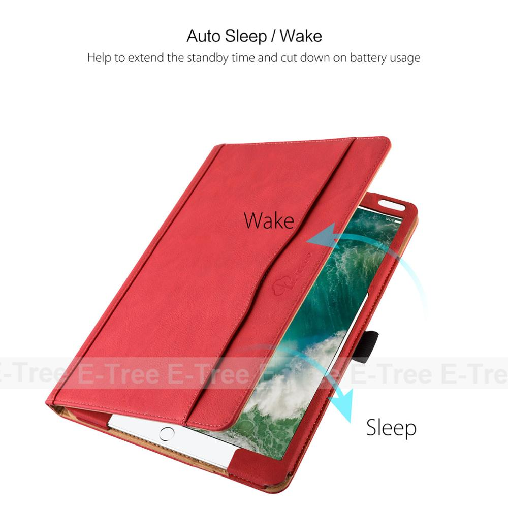 folio pu leather flip cover for ipad pro 10.5 inch tablet case with stand function and document wallet pocket