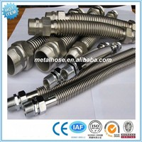 Stainless steel flexible metal hose with male or female screw connection