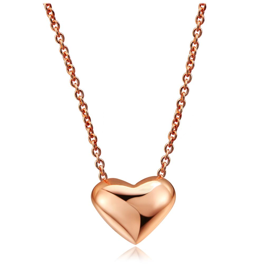 Heart Simple OL Style Rose Gold Color Pendant Necklace Wholesale Women Party Wedding Fashion Jewelry Top Quality N099 <strong>N100</strong>