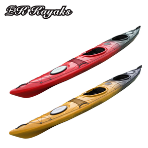 professional plastic tandem sit in ocean kayak with rudder and foot pedal