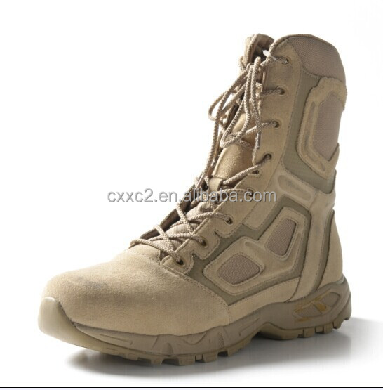 high quality suedea leather military tan desert boots