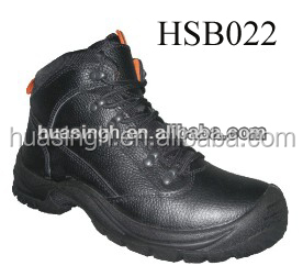 black hardwearing factory work steel toe insert tip binding safety boots for South America