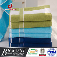 luxury hotel stripe beach bath towels set