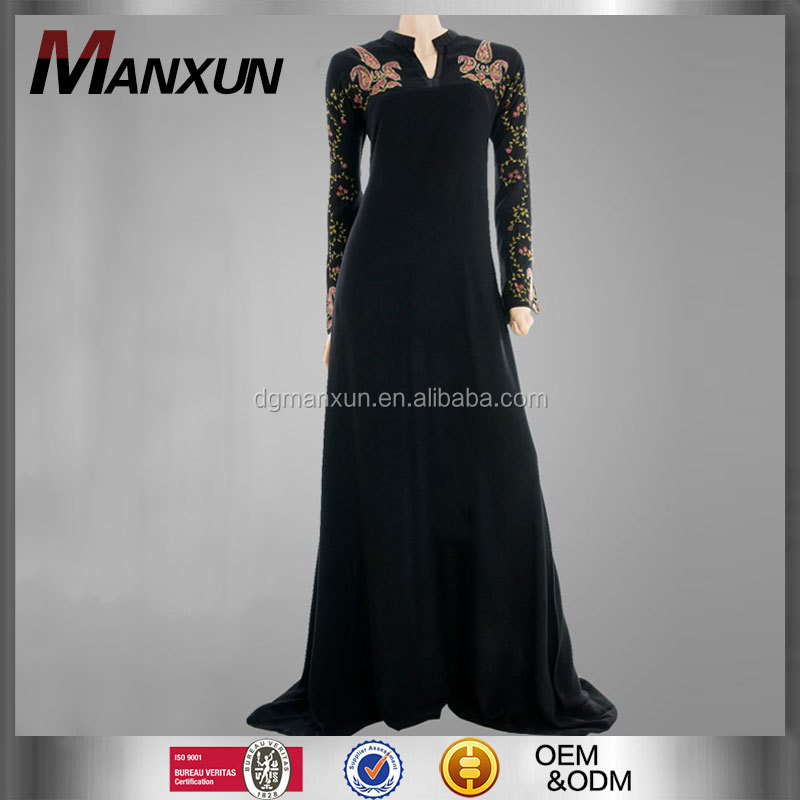 Wholesale Muslim Clothing On Alibaba New Fashion Design Beautiful Women Black Dubai Abaya