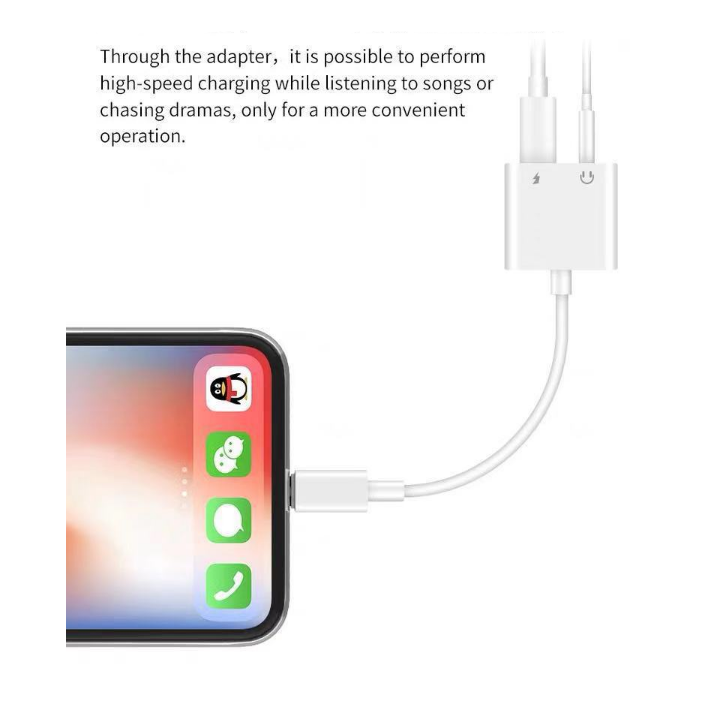 For iphone x headphone adapter 3.5mm audio jack adapter splitter for iPhone X Support IOS 12