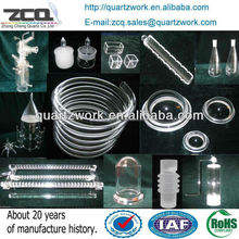 High Precision Helix Quartz Tube Fused Quartz Pipe