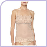 2015 New Hot Girls Sexy Luxuriously Soft Stretch Exquisite Lace See-through Camisole