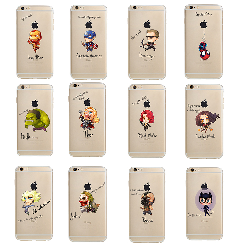 UV printing marvel phone case accessories for iphone 6/6s/7/7plus