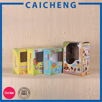 Paper box for toy packaging
