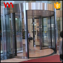 Factory low price customized aluminium frame double wing all glass hotel automatic revolving door