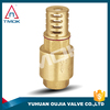 "yhuhuan brass 1/2"" or 2"" inch female thread heavy duty casting water pump foot valve with strainer"