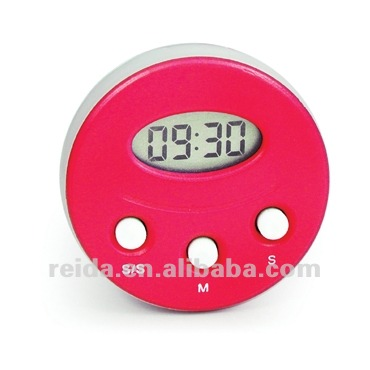 Round Shape Digital Timer with suction