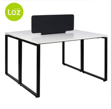 MFC/MDF top steel frame workstation for two