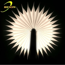 2015 newest creative product Bedside Nightlight Fashion Fold Page lumio book lamp