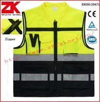 Manufacturer roadway refllecitve clothing with multi-pockets