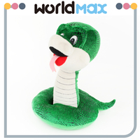 New Products And Happy Green Snake Lovely Baby Stuffed Toy