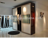 glass door wardrobe with hinges with paper box