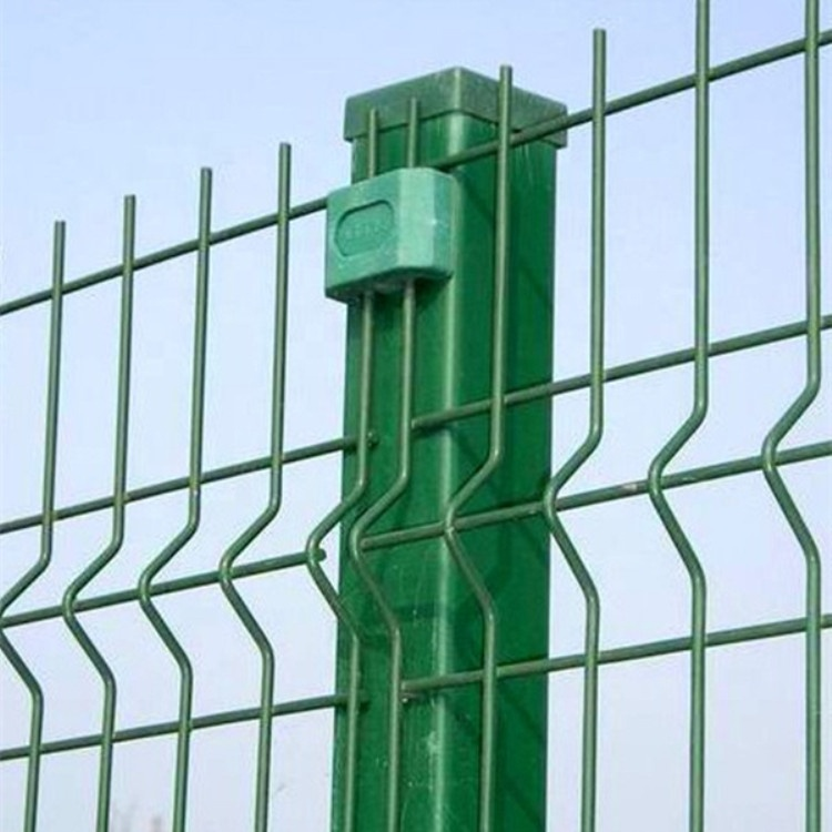 green vinyl coated welded wire mesh fence panel