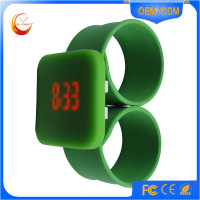 Square Silicone LED Slap Wristband Bracelet Watch