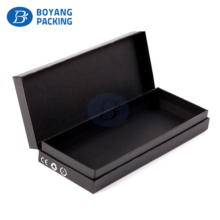 Custom recyclable paper latest Durable black Cardboard paper packing box