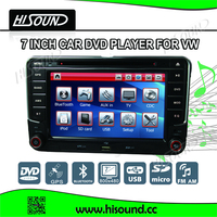 2din 7inch touch screen vw golf 5 car radio gps with bluetooth
