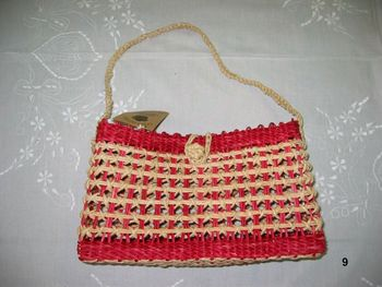 Corn Straw Red Bag