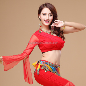 9fe57d44d70f Latest women one shoulder belly dance and yoga top JYS63