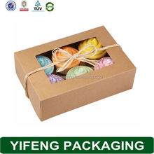 6 Cupcakes Packaging Box, Craft Paper Cupcake Box