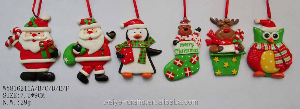 Shenzhen factory supply colorize Clay Dough Christmas decorations Christmas Ornaments
