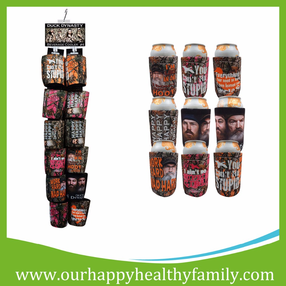 Full Sublimation Printed Neoprene Beer Can Cooler Holder